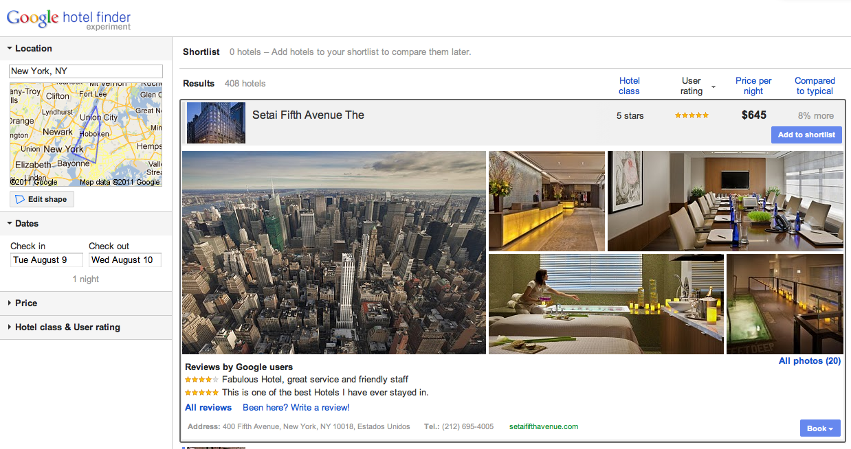 Google's direct hotel booking strategy keeping it all in the family