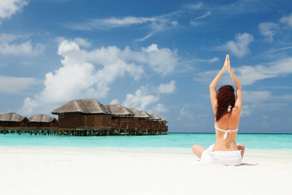Attention! Milary Pilates at Maldives resort
