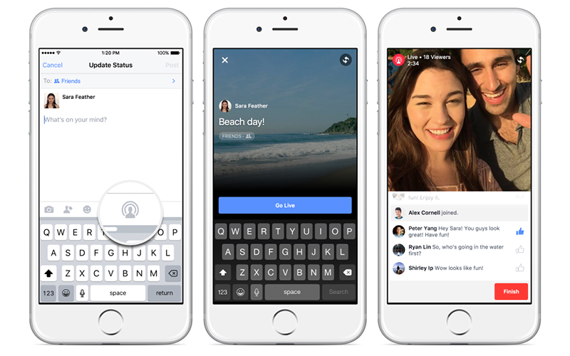 Jump into the stream: Facebook trials live video
