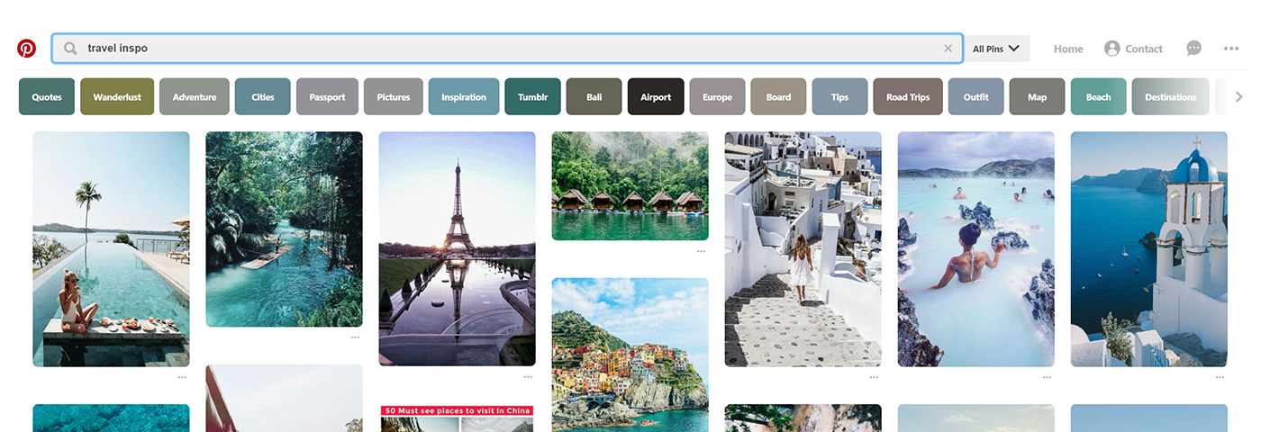 What the millions of people using Pinterest for travel inspo are looking for