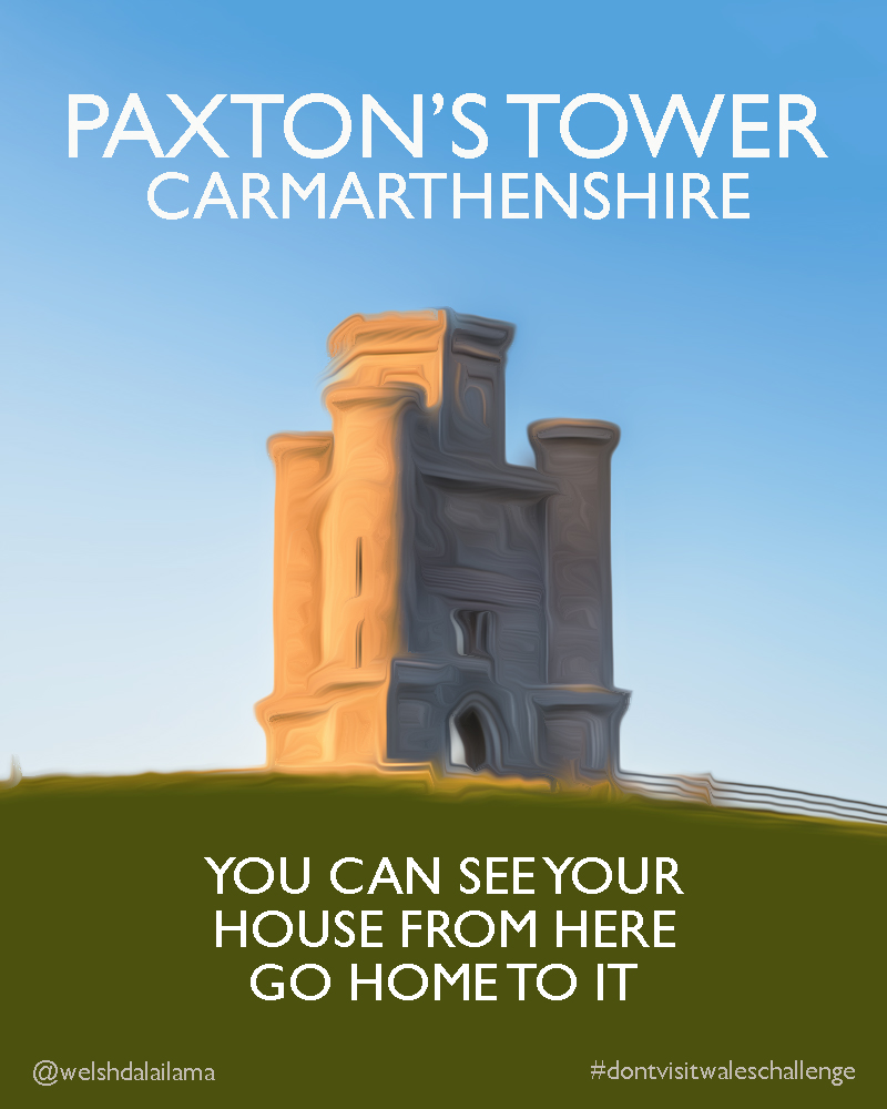 Paxton's Tower don't travel poster