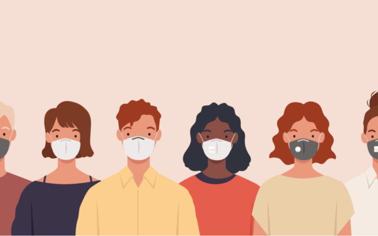 designer making face masks