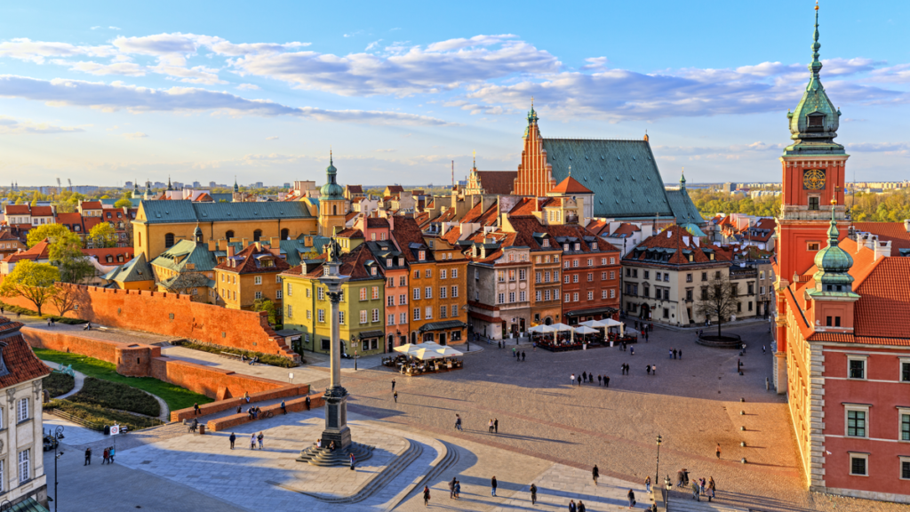Warsaw city in Poland